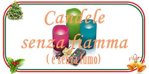 candele led senza fiamma