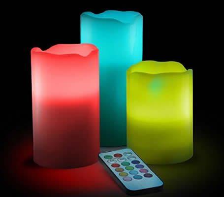 candele senza fiamma a led con telecomando