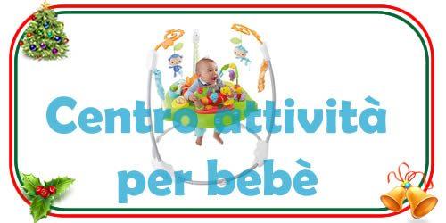 il centro attività per bebè e bambini piccoli che permette tante esperienze