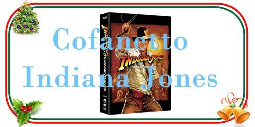 cofanetto dvd o blu ray della quadrilogia di Indiana Jones