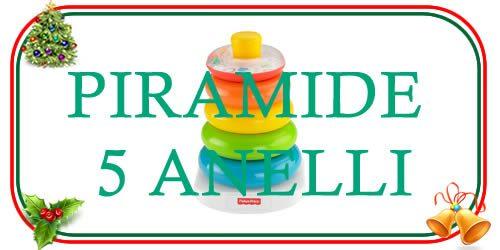 Scegli la piramide 5 anelli per i regali di Natale per bebè e bambini piccoli