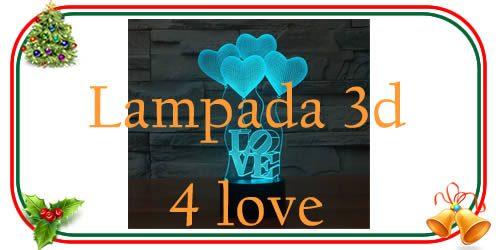 lampada 3d for love indicata per la fidanzata o il fidanzato