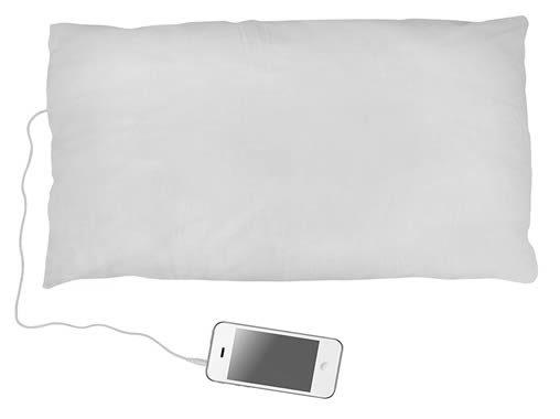 cuscino musicale dotato di altoparlanti interni