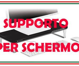 supporto per lo schermo del pcin colore nero o bianco