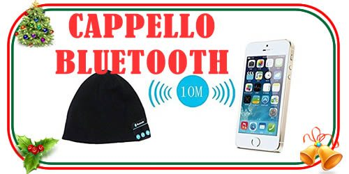 cappello bluetooth per musica e telefonate