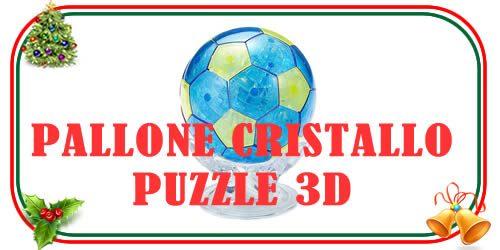 Pallone da calcio0 gioco puzzle 3d in cristallo