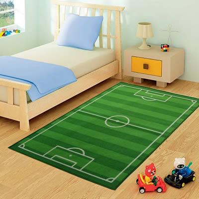 utilizo del tappeto di campo da calcio nella cmeretta