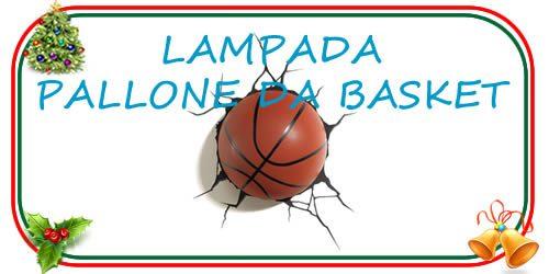 Lampada pallone basket da parete