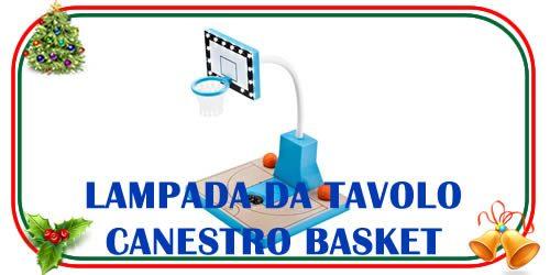 modello di lampada da tavolo a forma di canestro da basket