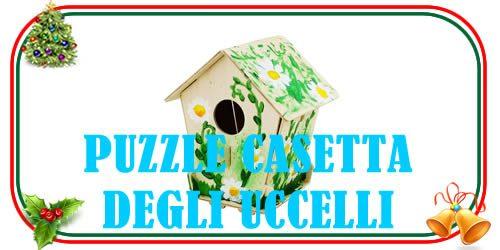puzzle 3d a modella di casetta degli uccelli