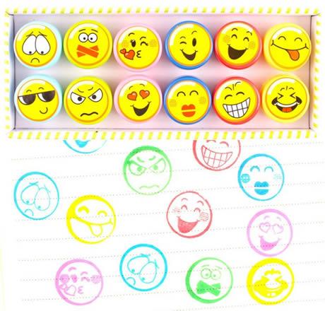 allegria e colore con i timbri Emoji