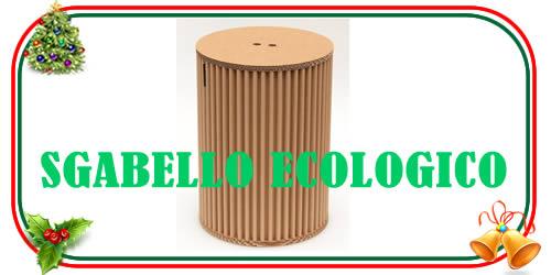 sgabello ecologico in carta riciclabile