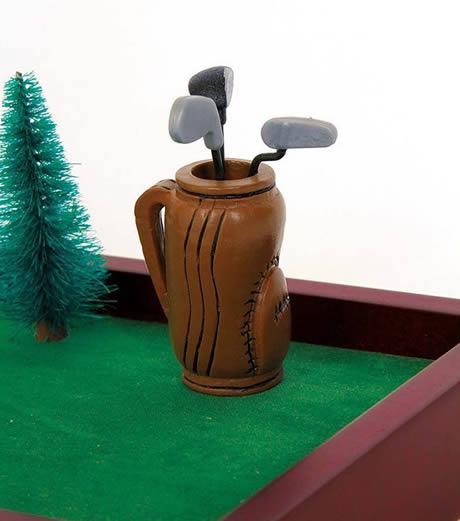 la sacca delle mazze per il golf da tavolo