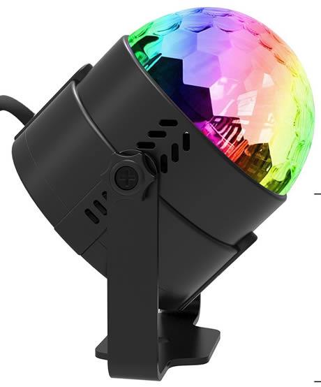 lampada a led con luci da discoteca