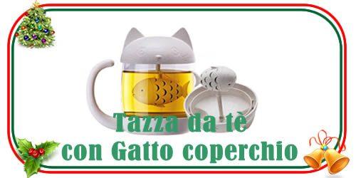 Tazza da tè di design con testa da gatto