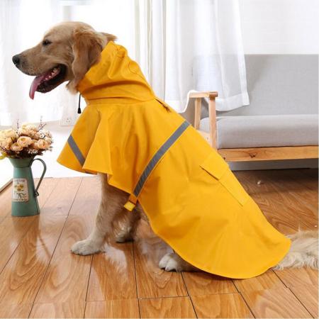 mantella impermeabile giallo per cane