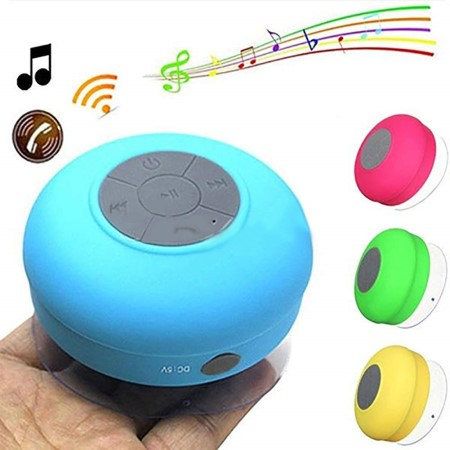 altoparlante wireless impermeabile in colore azzurro