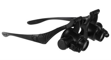 occhiali di precisione leggeri con luce a led