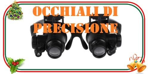 Occhiali di precisione con lenti di ingrandimento e luci a led