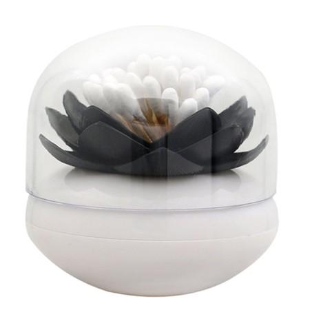 scatola con fiore di loto nero